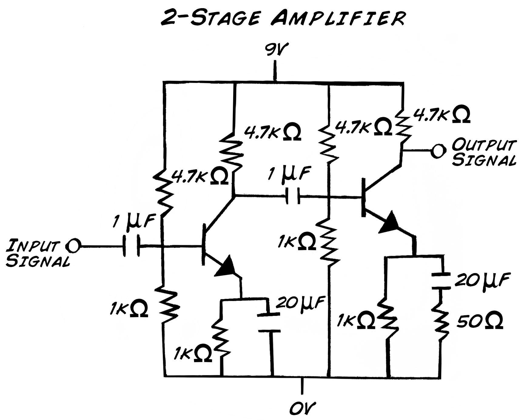 Experiment Transistor Circuit Design Class A Audio Amplifier Build The