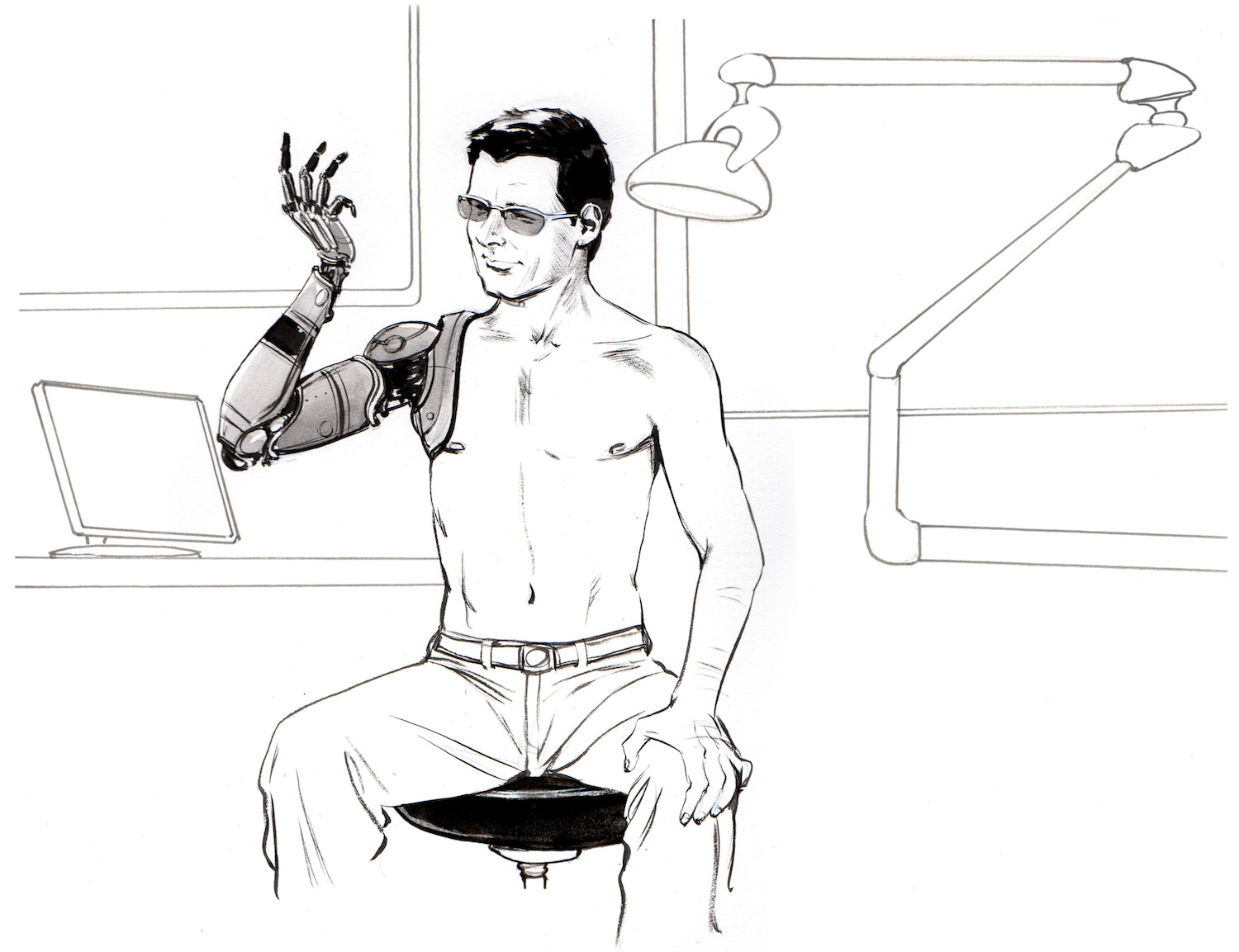 experiment: advanced neuro-prosthetics-take someone's free will, Muscles