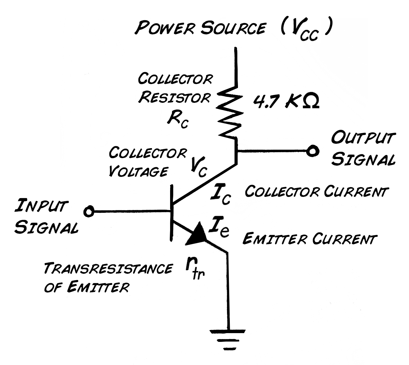 Experiment Transistor Circuit Design 50 Watt Amplifier