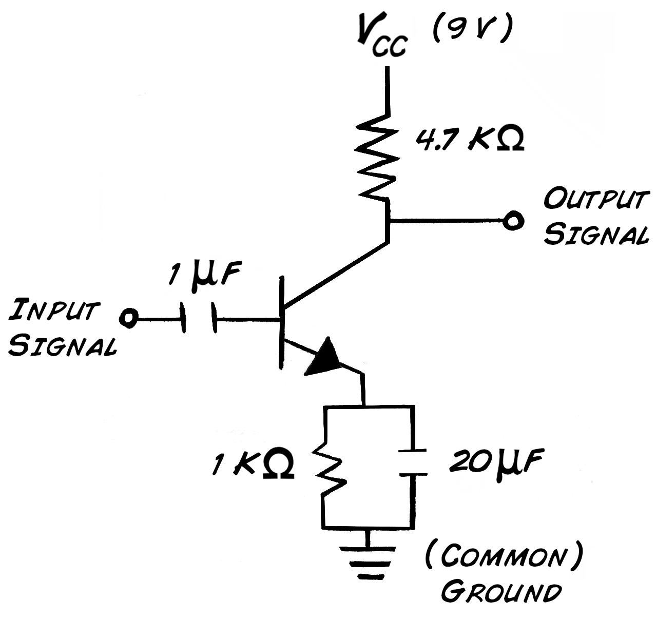 Experiment transistor circuit design high pass filter pooptronica