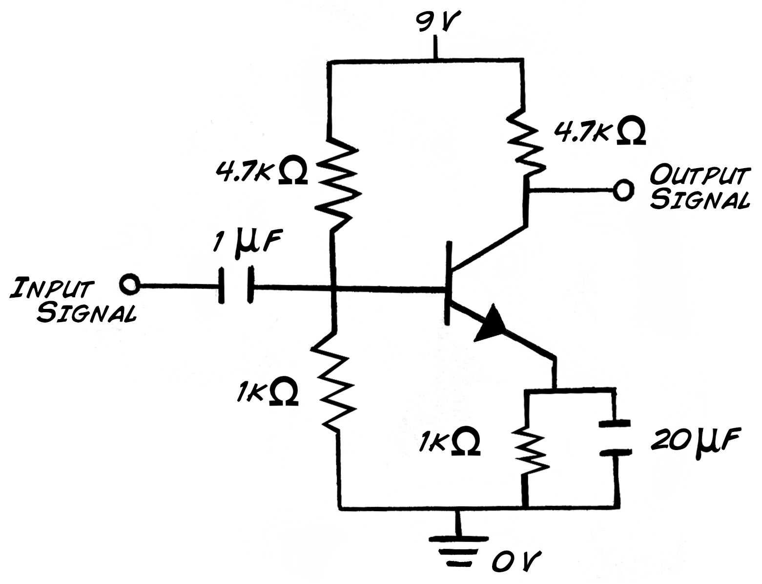experiment transistor circuit design rh backyardbrains com dc voltage amplifier circuit diagram voltage controlled amplifier circuit diagram