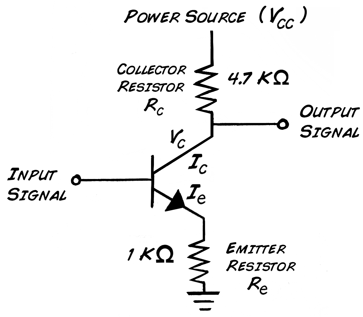 Experiment Transistor Circuit Design Diagram 3 Wire Range Cord But Note That Adding This R To The