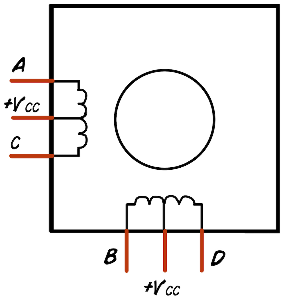 Experiment Controlling A Stepper Motor With Your Muscles Dc Driving Circuit Motorcontrol Controlcircuit Of How Is Different From